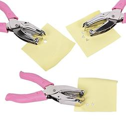 LIUMANG 3 PCS Paper Puncher of Different Shape,Metal Star Pu