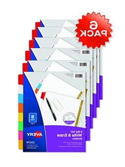 Avery Big Tab Write & Erase Dividers, 8-Tab Set, Multicolor,
