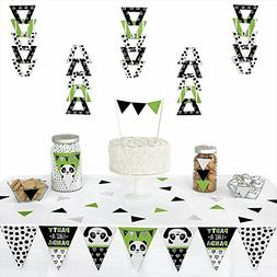 Party Like a Panda Bear - Triangle Baby Shower or Birthday P