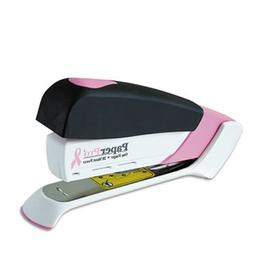Pink Ribbon Desktop Stapler, 20-Sheet Capacity, Black/Pink
