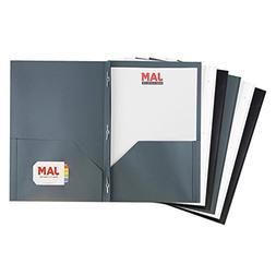 JAM PAPER Plastic 2 Pocket School POP Folders with Metal Pro