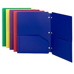 Smead Poly Snap-In Two-Pocket Folder, Letter Size, Assorted