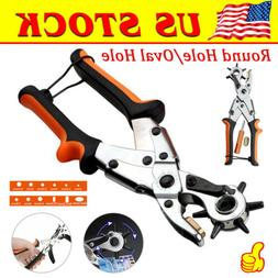 Pro Leather Belt Hole Punch Puncher Tool Maker Hand Pliers H