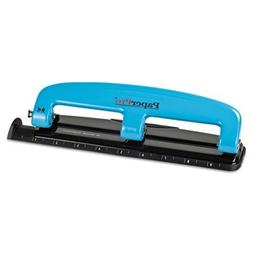 12-Sheet Capacity ProPunch Compact Three-Hole Punch, Rubber