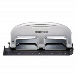 20-Sheet Capacity ProPunch Three-Hole Punch, Black/Silver, S