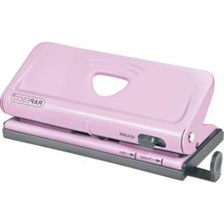 Rapesco Punches Adjustable, 6 Hole Paper Punches, Pink