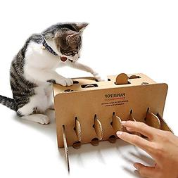 Cat Puzzle Box Toy Pop Up Mole Game with Holes - Indoor Inte