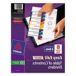 Ready Index Easy Edit Contents Dividers Title 18 Letter Mult