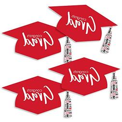 Red Grad Hat - Best is Yet to Come - Graduation Hat Decorati