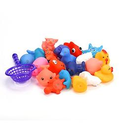 Gbell 20 Pcs Rubber Sound Animals Bathing Toys - Summer Pool