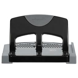 "45-Sheet SmartTouch Three-Hole Punch, 9/32"""" Holes, Black/Gr"