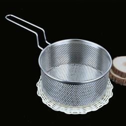 Stainless Steel Punching Hole Sieve Strainer Fried Basket Ve