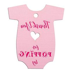 Summer-Ray 50pcs Pink Baby Onesie Baby Shower Favor Thank Yo