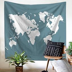 Vidow Tapestry Wall Hanging, World Map Tapestry Bohemian Sty