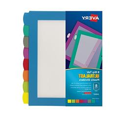 Avery Ultralast Big Tab Plastic Dividers, 8 Tabs, 1 Set, Mul