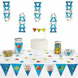 Under The Sea Critters - Triangle Baby Shower or Birthday Pa