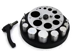 """Very Large Disc Cutter 1/8"""" To 1 1/4"""" With 10 Punches In Rub"""