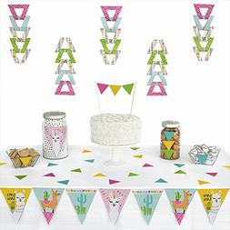 Whole Llama Fun - Triangle Llama Fiesta Baby Shower or Birth