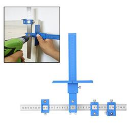 Chaufly Woodworking Punch Locator Drill Guide for Cabinet Ha
