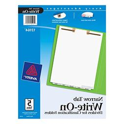 Avery Write-On Dividers for 2-Prong Classification Folders,