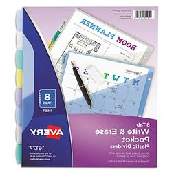 Avery 16177 Write & Erase Big Tab Plastic Dividers w/Slash P
