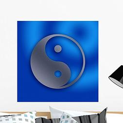 Wallmonkeys Yin and Yang Stainless Steel Sheet Metal Hole De